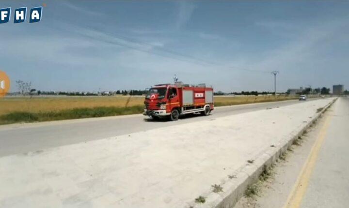 نبع السلام محلي تل أبيض يستلم آليات إطفاء مقدّمة من الحكومة التركية لمواجهة الحرائق التي تهدد المحاصيل الزراعية مع اقتراب موسمي القمح والشعير