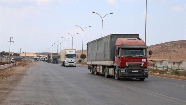عبر تركيا..قافلة مساعدات أممية جديدة تدخل إدلب