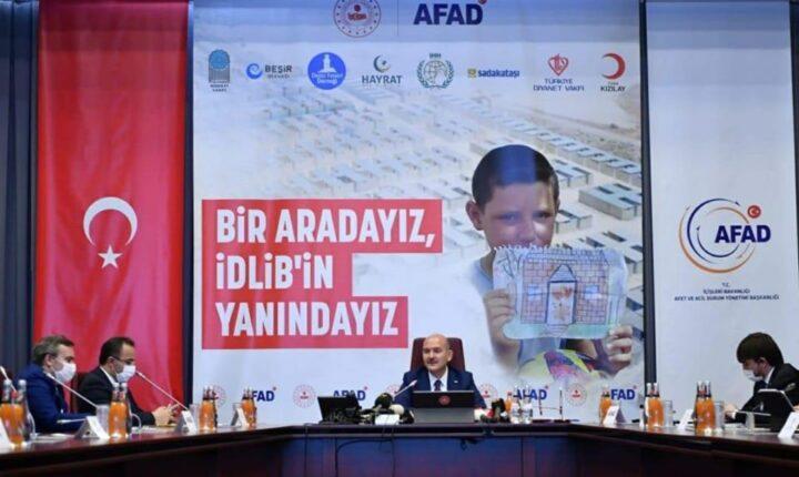 وزير الداخلية التركي : تركيا تستهدف 50 الف منزل للنازحين في ادلب