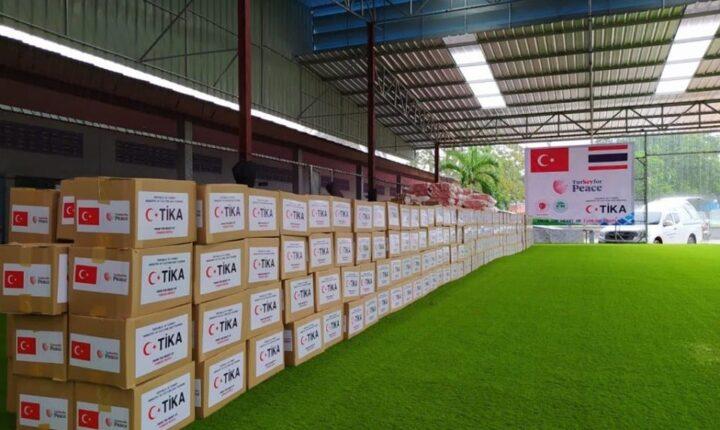 تيكا : مساعدات غذائية للاسر جنوب تايلاند