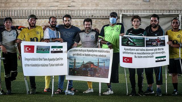 """إدلب: مباراة لمبتوري الأطراف فرحا بـ""""آيا صوفيا"""""""