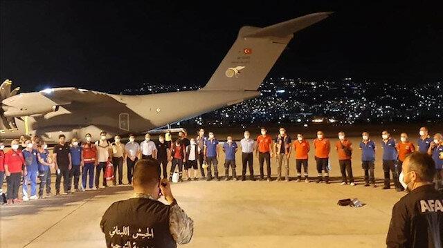 طائرة مساعدات تركية تصل العاصمة بيروت