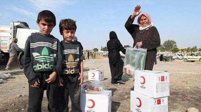 """تركيا تواصل مد يد العون للمحتاجين في منطقة """"نبع السلام"""""""