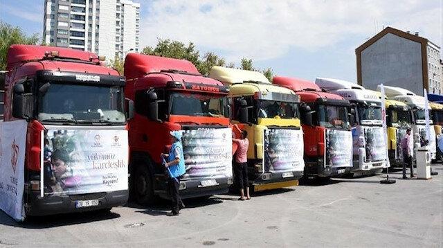 """""""الإغاثة التركية"""" ترسل مساعدات لإدلب السورية"""