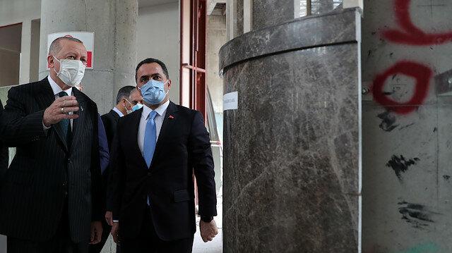"""الرئيس أردوغان يتفقد """"مسجد تقسيم"""" في إسطنبول"""
