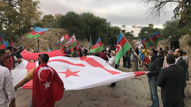مسيرة داعمة لأذربيجان في شمال قبرص التركية