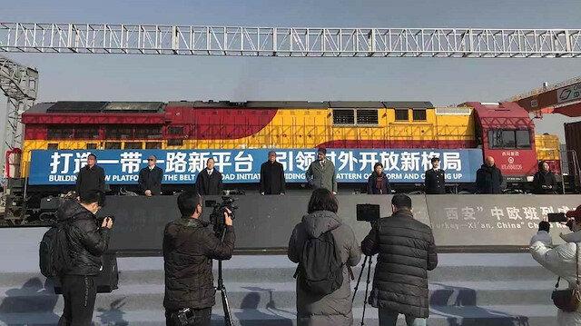 سفير تركيا يستقبل أول قطار قادم من بلاده إلى الصين