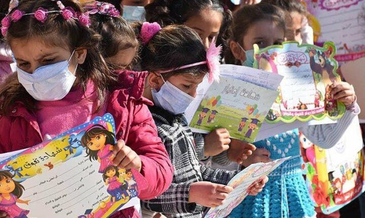 مد يد العون | الحلقة الرابعة عشر | طلاب مدارس نبع السلام يتسلمون شهاداتهم الفصلية