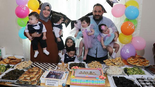 هطاي التركية.. 5 توائم يحتفلون بعيد ميلادهم الأول