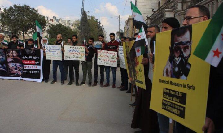 """الذكرى السنوية الرابعة للهجوم الكيماوي الذي نفذته قوات النظام على مدينة """"خان شيخون"""" بريف إدلب"""