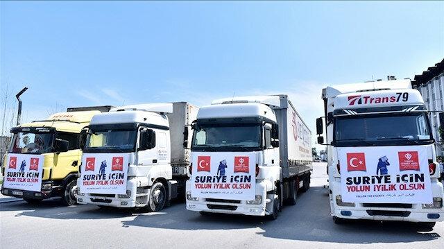 """""""مرسين"""" التركية.. قافلة مساعدات تنطلق باتجاه سوريا"""