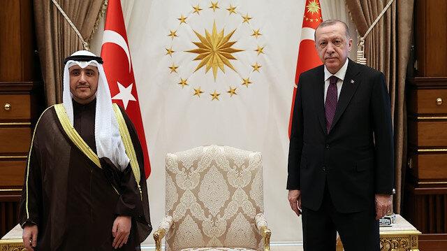 الرئيس أردوغان يلتقي وزير الخارجية الكويتي