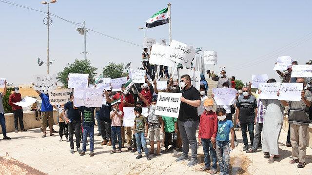 """مظاهرات في """"نبع السلام"""" السورية ضد """"بي كا كا"""" الإرهابية"""