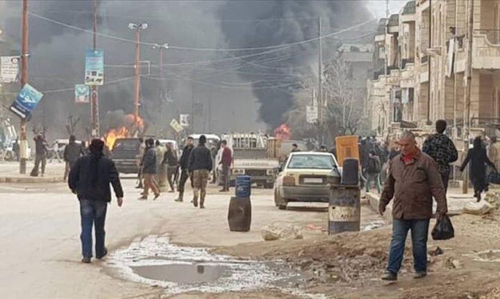 عفرين السورية.. هجوم إرهابي بسيارة مفخخة يخلف خسائر مادية