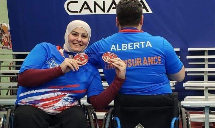 لاجئة سورية تفوز بالميدالية الفضية في بطولة كندا لتنس الطاولة (ذوي الاحتياجات الخاصة)
